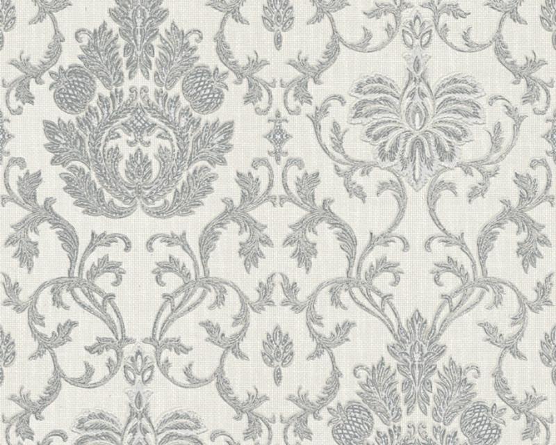 Belle Epoque 3390-10 Grijs Glitter Barok Behang - ASCreation