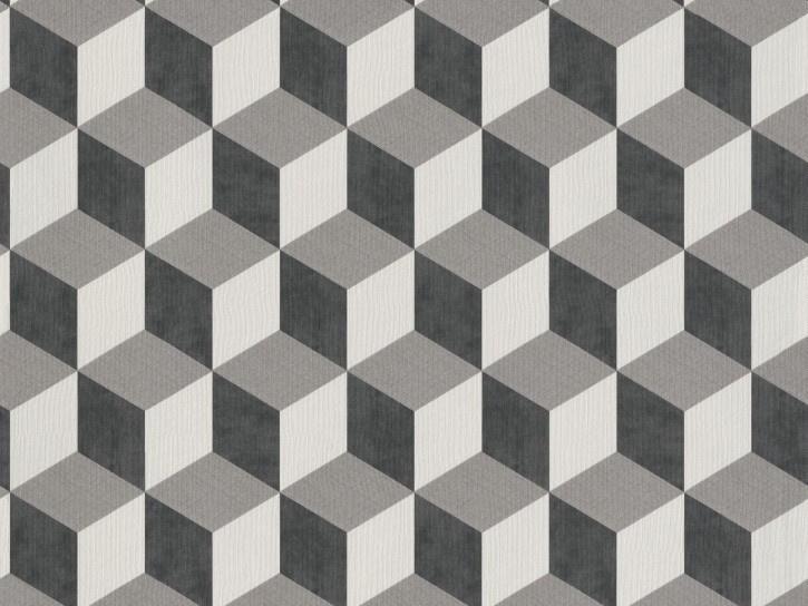 BN Wallcoverings/Voca Cubiq Behang 220362 Cube/Kubus/Modern/3D/Zwart/Grijs/Geometrisch