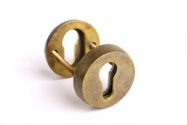 Rozet voor profiel-cilindersloten veiligheidsbeslag brons antiek