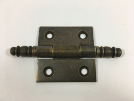 nr.2 scharnier sierkop 50mm, bronsantiek