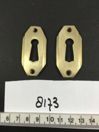 nr. 8173 setje art deco sleutelrozetten