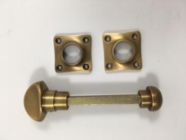 nr.3 wc slot draaiknop, brons antiek (passend bij tonmodel)