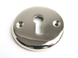 nr.13 rond sleutelrozet, blinkend nikkel