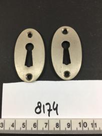 nr. 8174 setje ovale sleutelrozetten