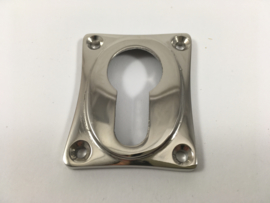 nr.3 cilinderrozet, blinkend nikkel