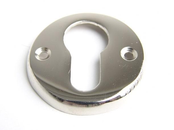 nr.12 rond cilinderrozet,  blinkend nikkel