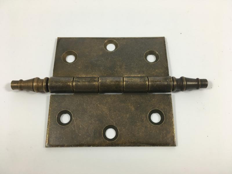 nr.1  scharnier vaaskop 76mm, brons antiek