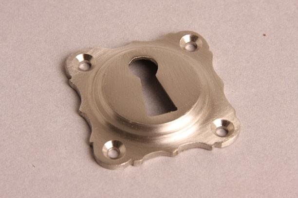 nr.5 sleutelrozet, geborsteld nikkel