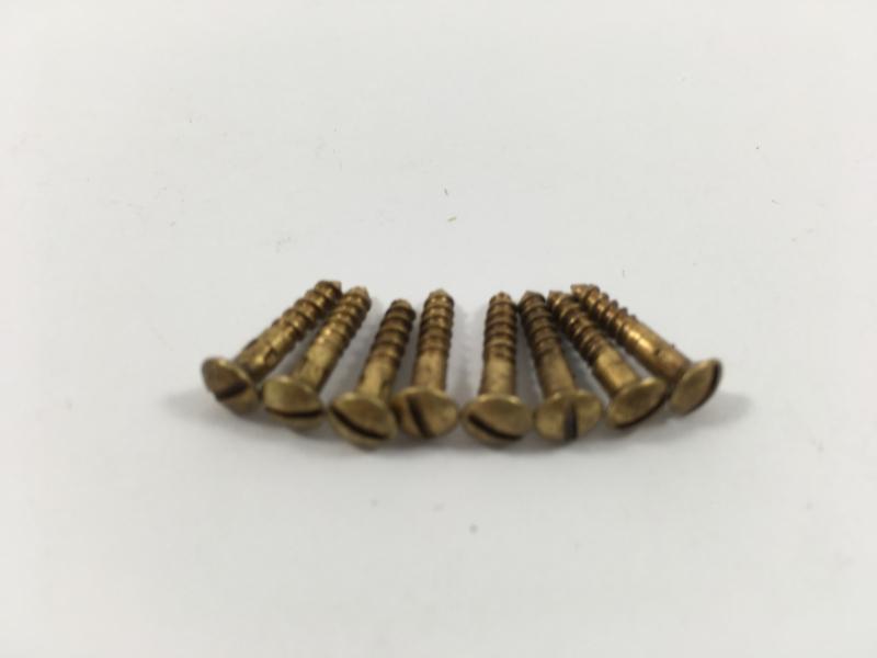 Schroefjes middel lang, per 8 stuks , brons antiek