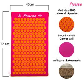 Flowee Spijkermat ECO - Fuchsia-Oranje - Gevuld met Kokosvezels - 77x45cm