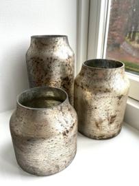 Decoratie Vaas Bloom - Silver - Set van 3