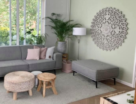 Houten Mandala | Greywash | Large ∅ 120cm |