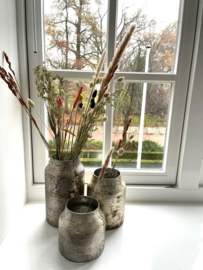 Decoratie Vaas Bloom - Silver - Set van 3