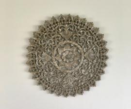 Houten Mandala | Greywash | Medium ∅ 90cm |