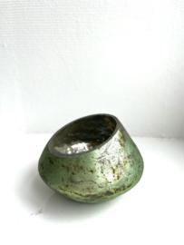 Waxinelichthouder Bloom - Sage - Small - Ø11 x H7