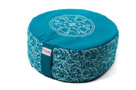 Meditatiekussen mandala groot | Turquoise