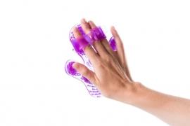 Flowee Massagehandschoen | Paars