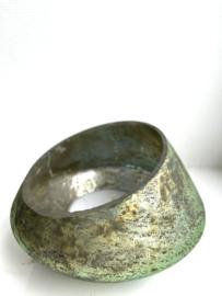 Waxinelichthouder Bloom - Sage - Medium - Ø13 x H9
