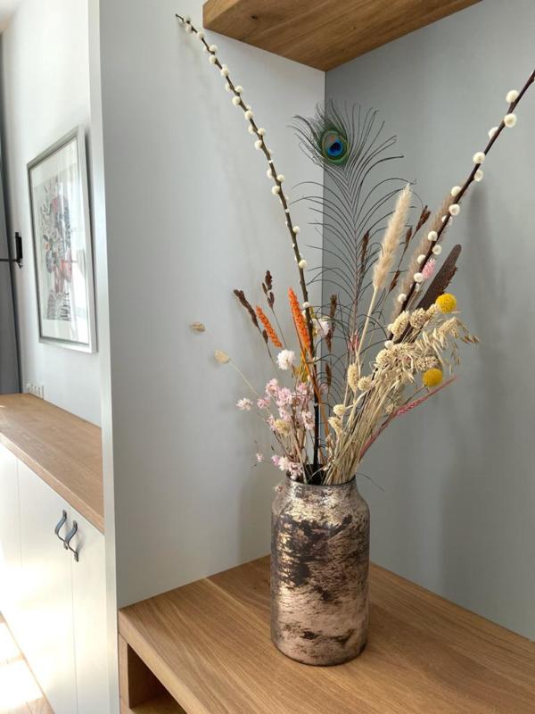 Decoratie Vaas Bloom - Pink - Large - Ø15 x H27