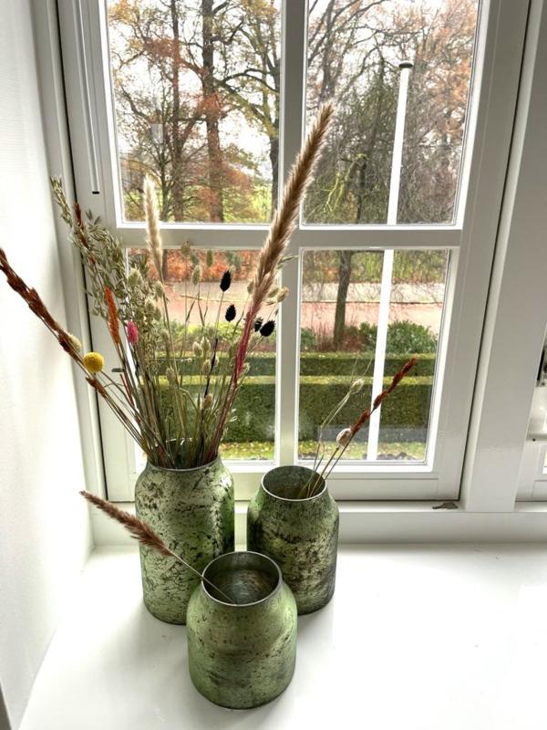 Decoratie Vaas Bloom - Sage - Set van 3