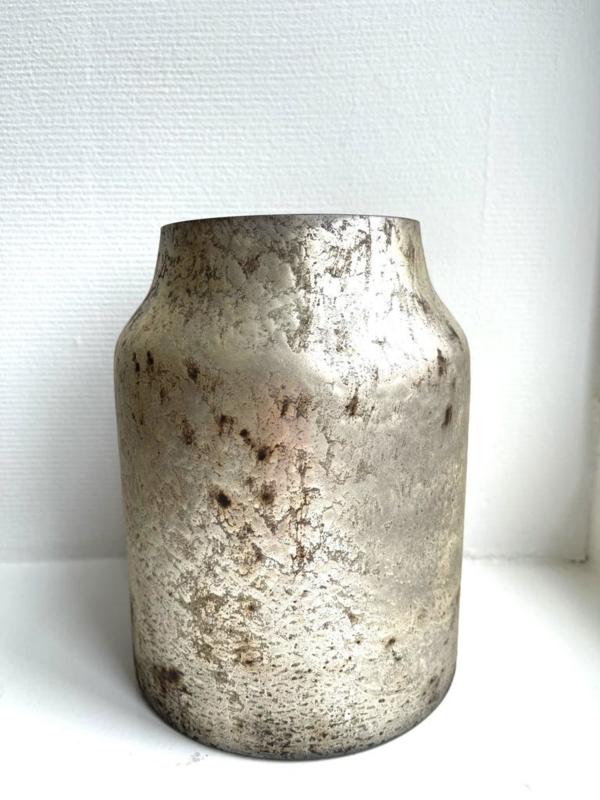 Decoratie Vaas Bloom - Silver - Medium - Ø15 x H21