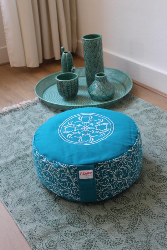 Flowee Meditatiekussen - Groot model -  Turquoise