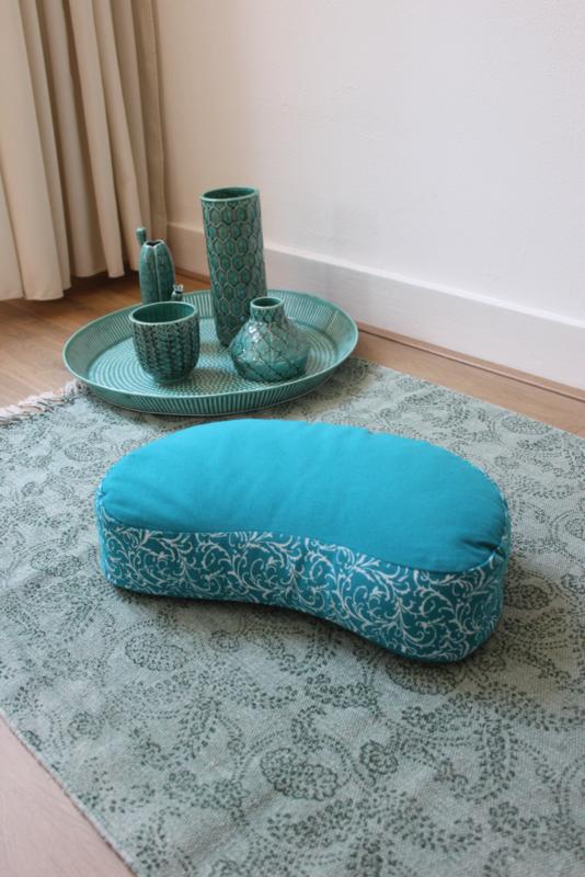 Meditatiekussen halve maan | Turquoise