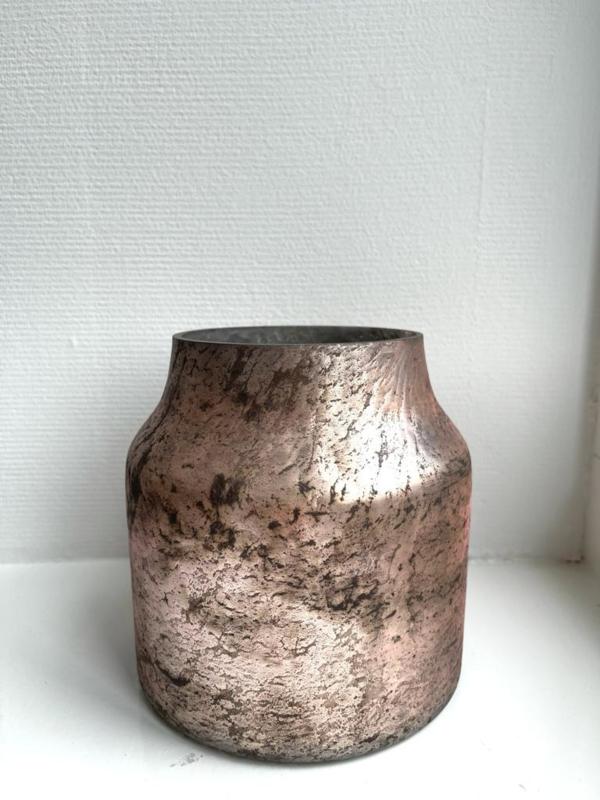 Decoratie Vaas Bloom - Pink - Small - Ø15 x H16