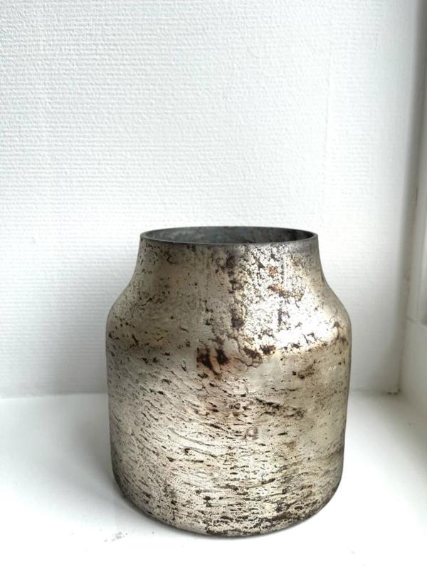 Decoratie Vaas Bloom - Silver - Small - Ø15 x H16