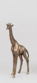 Giraf - Polyserin- goud - 28cm - Beeld - Decoratie