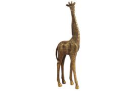 Giraf - Polyserin- goud - 44cm - Beeld - Decoratie