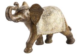 Olifant - goud - Bruin - Polyserin - 40cm