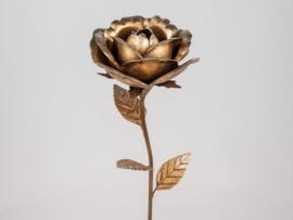 Roos - Goud - Metaal - 50cm - Decoratie - Ø15cm