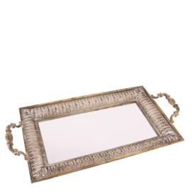 Dienblad - Spiegel - Goud -7x47x23 cm