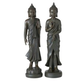 Buddha - Boedha - 2 set -  Bruin - polyserine - 82 cm - Geluk