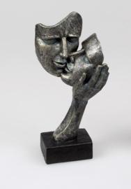 Vrouw - Beeld - Bronz - op voet - 29cm - Liefde