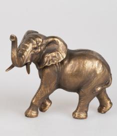 Olifant - Polyresin - Goud - 23cm - Beeld - Decoratie