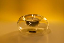 Waxine houder - 4 stuks- Luxe - Peri - Sfeerlichten - Glas - 8cm - 1138