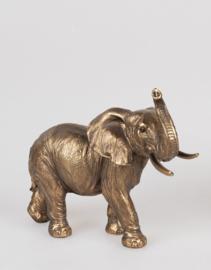 Olifant - Polyresin - Goud - 20cm - Beeld - Decoratie