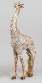 Giraf - Polyserin- goud - 38cm - Beeld - Decoratie