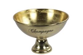 Schaal - Champagne - Goud - Aluminium -  Ø 40cm - H27cm - Schaal op voet