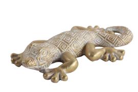 Gekko - goud - Polyserin - 16cm