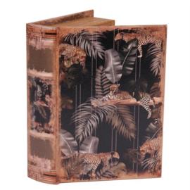 Boek - Decoratie - Opbergkistje - 23x16.5x5.5 cm - Jungle
