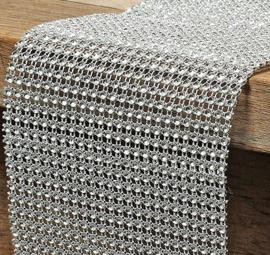 Tafel loper - Zilver - Bling Bling - 120 x 12 cm