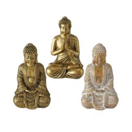 Buddha - Goud - 3 set - Goud - 10cm - Boedha