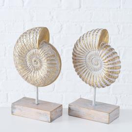 Zeedecoratie - Goud - 2 set - 29cm - op voet