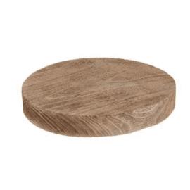 Hout - Schijf  - 41x41x5cm - Decoratie plank