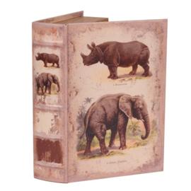 Boek - Decoratie - Opbergkistje - 23x16.5x5.5 cm - Safari