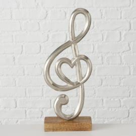 Muziek - Muzieknoot - Zilver - Aluminium - 38cm - Decoratie