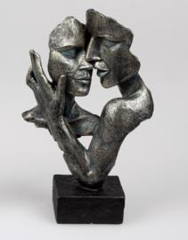 Vrouw - Beeld - Bronz - op voet - 32cm - Liefde
